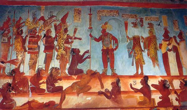 Los mayas palacios y piramides for El mural de bonampak