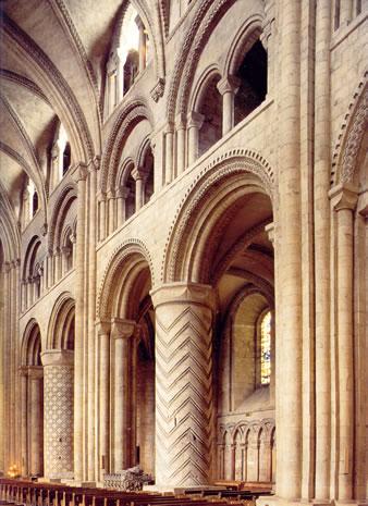 Rom nico ciudades catedrales y monasterios for Catedral de durham interior