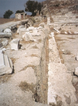 Fosa del telón de Milos (Foto: I. Rodá)