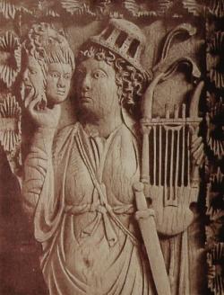 Relieve de Trier con pantomimo y máscaras. Berlín, Antikensammlung
