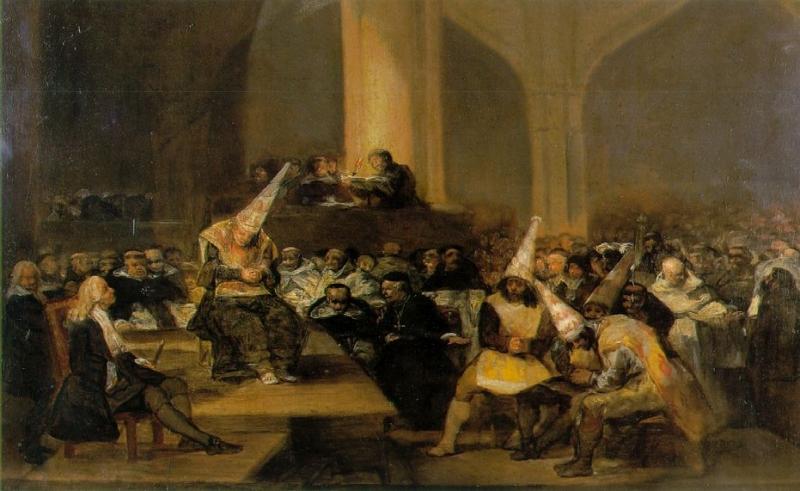 Goya: Escena de Inquisición (1808-1812)