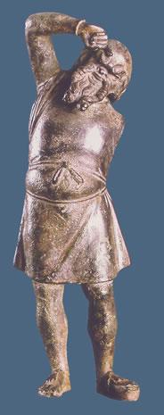 Estatuilla que representa un actor cómico