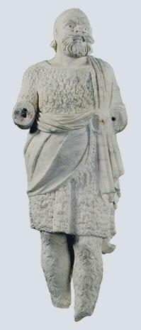 Estatua de actor con máscara de Paposileno