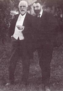 Gumersindo de Azcárate con José Manuel Pedregal