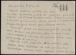 Carta (anverso) de Ramón Acín a sus hijas desde la carcel de Huesca