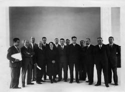 Claustro de profesores de la Escuela Normal de Huesca