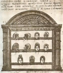 Codex Vaticanus Latinus 3868 (Ilustración del Heautontimorumenos)