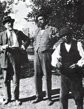 Manuel B. Cossio con Juan Uña, discípulo de la primera promoción