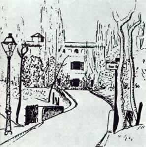 La Residencia de Estudiantes, dibujo de José Moreno Villa.