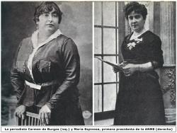 Carmen de Burgos y María Espinosa