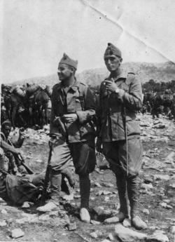 Fermín Galán y el teniente Peiré