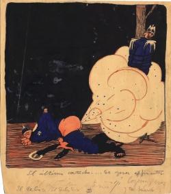 Escena alusiva a la I Guerra Mundial