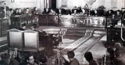 Tribunal popular durante la celebración de un proceso (Archivo General de la Administración, Sección Cultura)