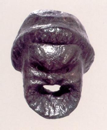 Máscara cómica - aplique de vidrio