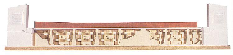 Maqueta de reconstrucción del telón del escenario del teatro