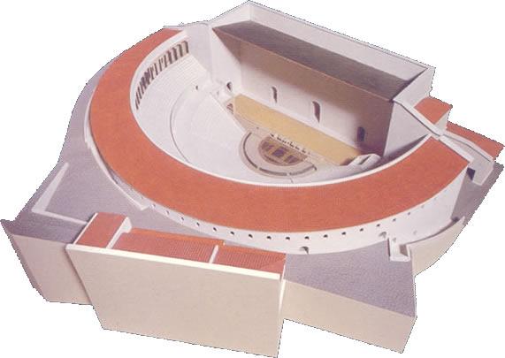 Maqueta del teatro de Lugdunum