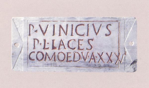 Placa con inscripción funeraria