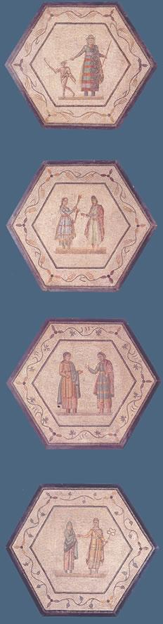 Mosaicos con escenas teatrales