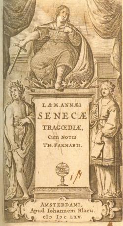 Frontispicio de la edición de las tragedias de Séneca