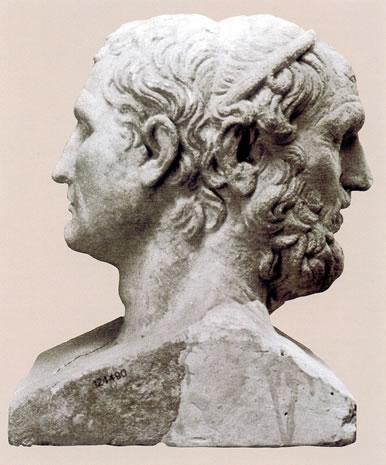 Herma doble de Homero - Apolonio y Menandro