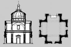 Figura 3. Giuliano da Sangallo: Santa Maria delle Carceri. 1485. Prato