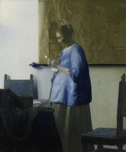 Vermeer: Dama leyendo una carta. Hacia 1662-63. Rijksmuseum, Amsterdam
