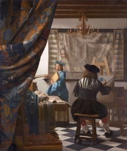 Vermeer: El arte de la pintura. Hacia 1665/66. 120 x 100 cm. Kunsthistorisches Museum Vienna