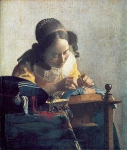 Vermeer: La encajera. Hacia 1669-70. Le Louvre, Paris