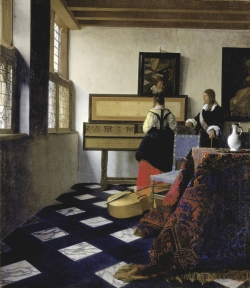 Vermeer: La lección de música. Hacia 1662-1665. 74,6 x 64,1 cm. - Royal Collection, St. James' Palace. Londres