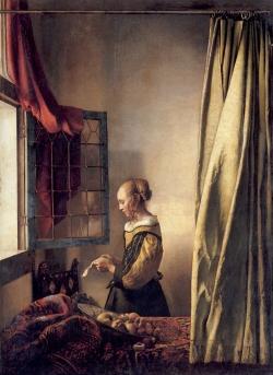 Vermeer: Lectora en la ventana. Hacia 1657. 83 x 64,5 cm. - Gemäldegalerie, Dresde