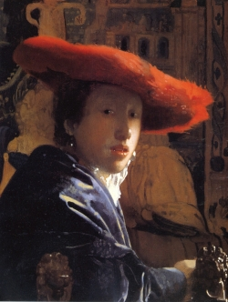 Vermeer: Muchacha con sombrero rojo. Hacia 1665/1666. National Gallery of Art, Washington Andrew W. Mellon Collection 1937.1.53