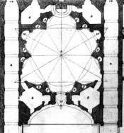 Plano Sant'Ivo della Sapienza. Borromini