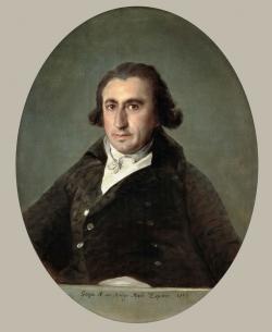 Goya. Retrato de Martín Zapater. 1797