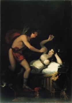 Goya. Alegoría del amor (¿Cupido y Psique?). Hacia 1798-1805