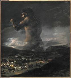 Goya. El Coloso. Hacia 1808-1812