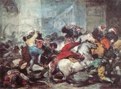 Goya. El Dos de Mayo de 1808 en Madrid.  1814