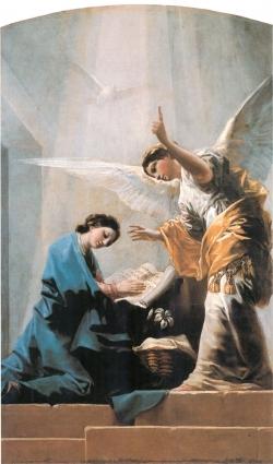 Goya. La Anunciación. Hacia 1785