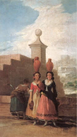 Goya. Las mozas del cántaro. Hacia 1791