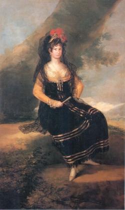 Goya. Retrato de la Condesa de Fernán Núñez. Hacia 1803