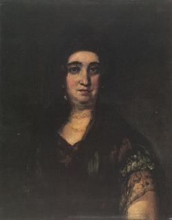 Retrato de dama con mantilla