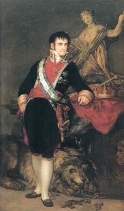 Goya. Retrato de Fernando VII. 1814