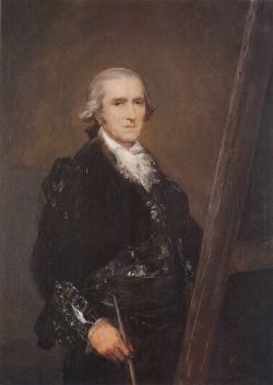 Goya. Retrato de Francisco Bayeu. Hacia 1786.