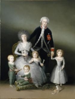 Goya. Retrato de los duques de Osuna y sus hijos. Hacia 1788