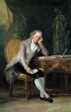 Goya. Retrato de Gaspar Melchor de Jovellanos. Hacia 1798