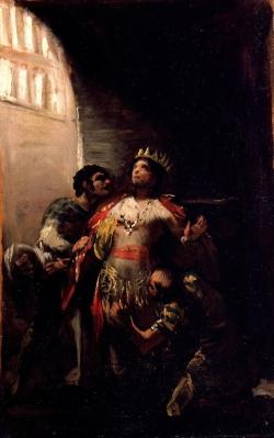 Goya. San Hermenegildo en la prisión. Hacia 1800