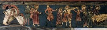 Techumbre Catedral de Teruel. Jesús con la cruz a cuestas