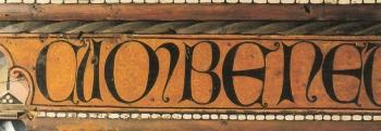 Techumbre Catedral de Teruel. Inscripción latina