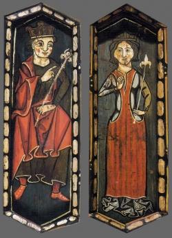 La techumbre de la Catedral de Teruel. Rey y Reina