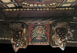 La techumbre de la Catedral de Teruel. Cabeza de anciano