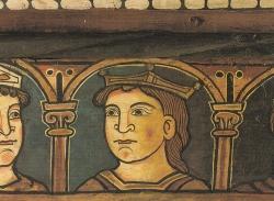La techumbre de la Catedral de Teruel. Cabeza de un Rey